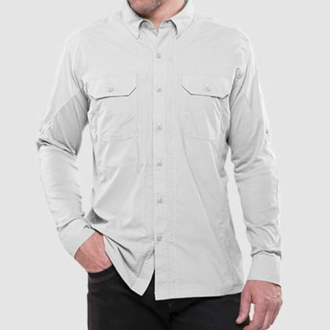 Kuhl Men's Long Sleeve Quick-Dry Travel Shirt natural