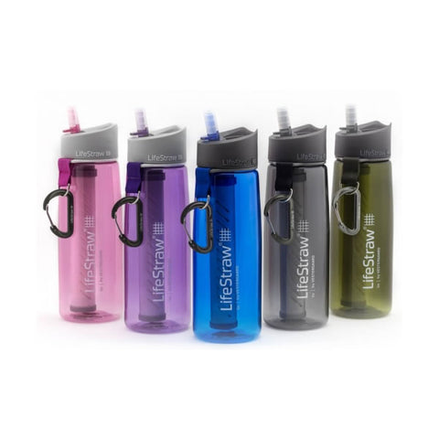 Lifestraw Go Bottle two stage water filter various colours