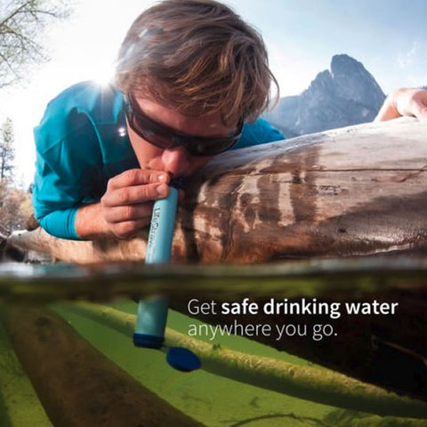 LifeStraw Personal Water Filter In Use