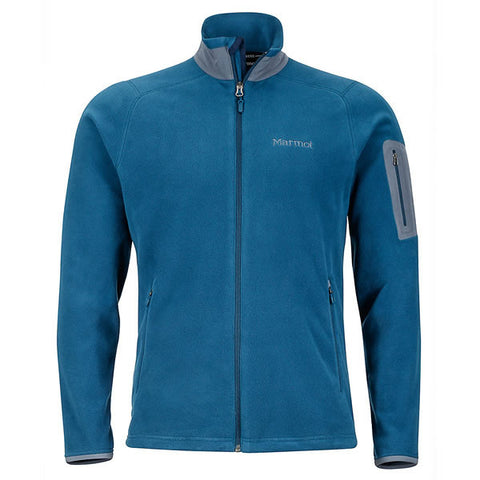 Marmot Mens Reactor Jacket - Polartec Classic 100 Wt Fleece Denim front view