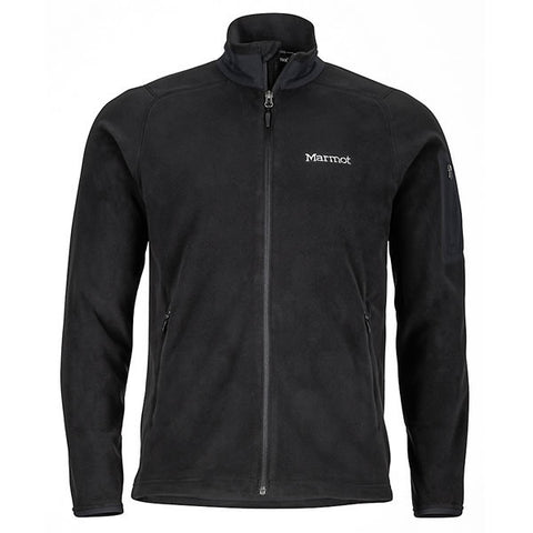 Marmot Mens Reactor Jacket - Polartec Classic 100 Wt Fleece black front view