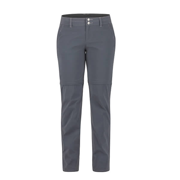 Marmot Women's Kodachrome Convertible Pants Women's Dark Steel front view