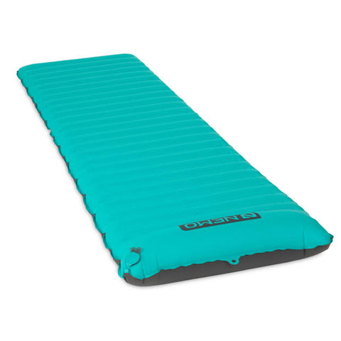 Nemo Astro Inflatable Sleeping Mat Verglas Green full view end