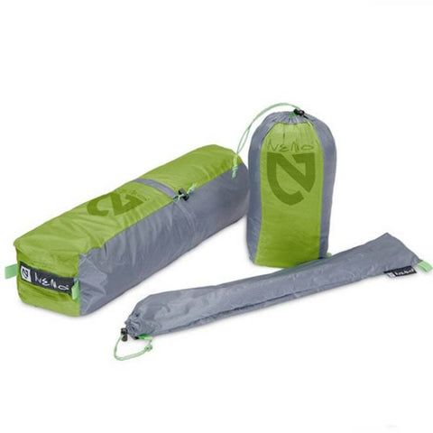 Nemo Equipment Dagger 3P Ultralight Backpacking Tent packaged with tent bag, peg bag and pole bag