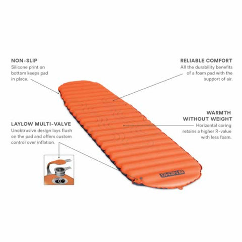 Nemo Flyer Self Inflating Hike Camp Sleeping Mat Long Wide features
