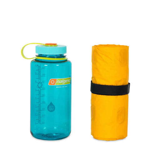 Nemo Tensor Insulated Inflatable Mattress Long Wide packed into water bottle