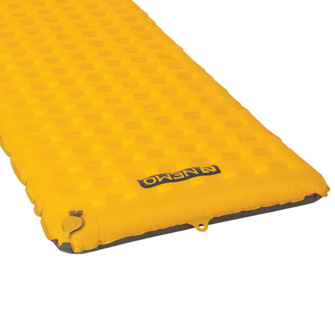 Nemo Tensor Insulated Ultralight Sleeping Mat Regular end view with valve