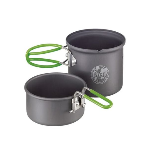 Optimus Crux Lite Hiking Stove with Terra Solo Cookset Bundle (non-stick)