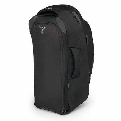 Osprey Farpoint 55 Litre Travel Backpack Volcanic Grey Harness Zipped Away