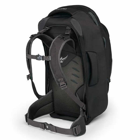 Osprey Farpoint 55 Litre Travel Backpack Volcanic Grey Harness