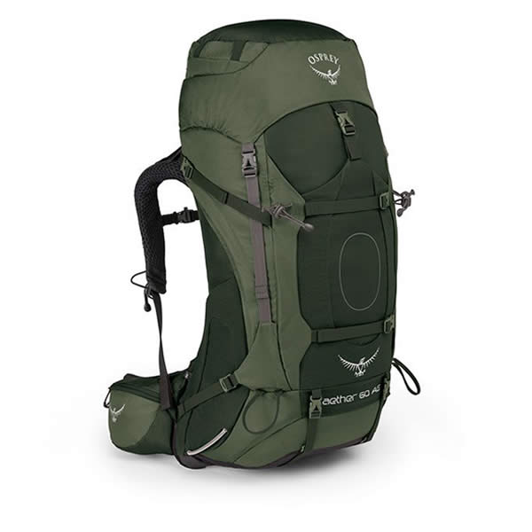 Osprey Aether AG 60 Litre Hiking Mountaineering Backpack Adirondack green