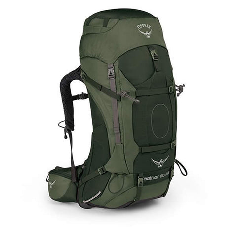 Osprey Aether 60 Litre Hiking Pack with free hydration reservoir and transit cover
