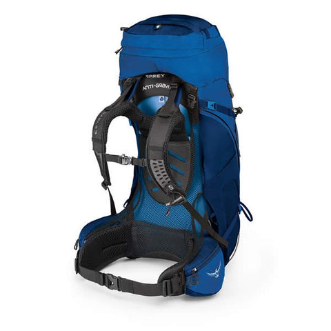 Osprey Aether AG 60 Litre Hiking Mountaineering Backpack neptune blue haness