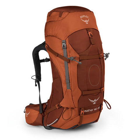 Osprey Aether AG 60 Litre Hiking Mountaineering Backpack outback orange