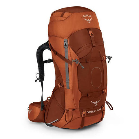 Osprey Aether AG Men's 70 Litre Hiking / Mountaineering Backpack with Raincover Outback Orange