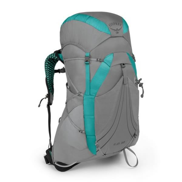 Osprey Eja 38 Litre Womens Ultralight Hiking Backpack Moonglade Grey