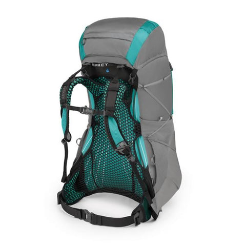 Osprey Eja 48 Litre Womens Ultralight Backpack Moonglade Grey harness