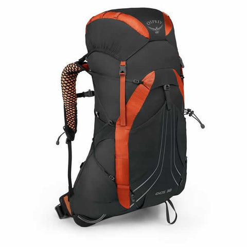 Osprey Exos 38 Litre Backpack Blaze Black