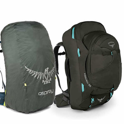 Osprey Fairview 55 Litre Travel Pack rainforest green with free raincover