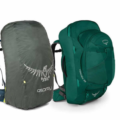 Osprey Fairview 55 litre travel backpack rainforest green with free raincover