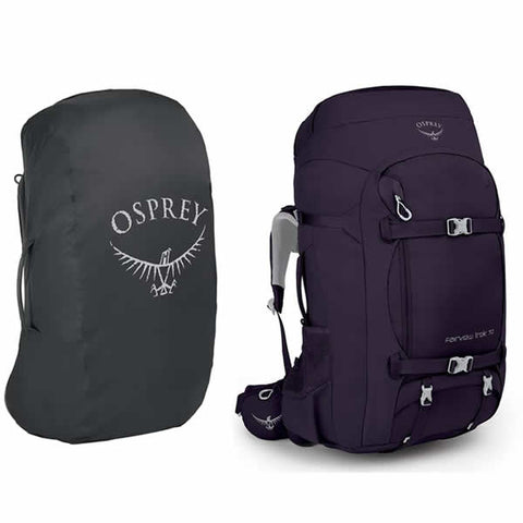 Osprey Fairview Trek 70 Women's Hiking and Travel Backpack Amulet Purple with Free AirCover