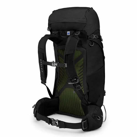 Osprey Kestrel 48 Litre Men's Hiking Backpack Black harness