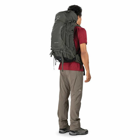 Osprey Kestrel 48 Litre Men's Hiking Backpack in use rear view