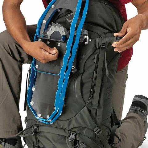 Osprey Kestrel 48 Litre Men's Hiking Backpack external attachment points