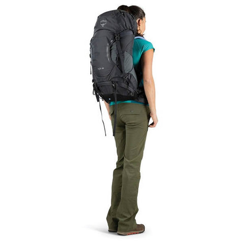 Osprey Kyte Womens 36 litre daypack thru hike backpack in use rear view