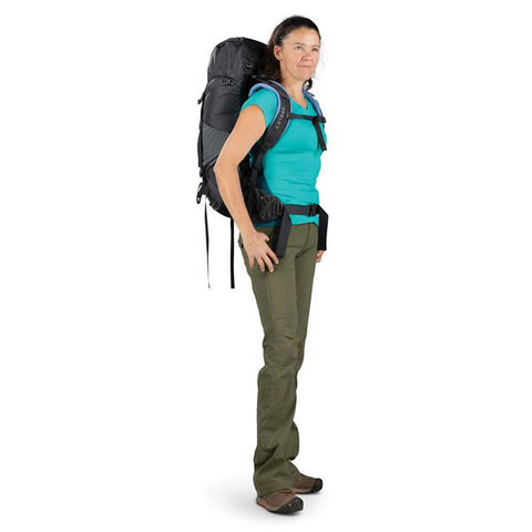 Osprey Kyte Womens 36 litre daypack thru hike backpack in use side view