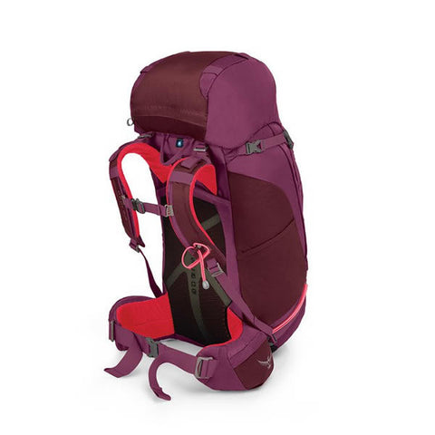 Osprey Kyte 46 Litre Women's Thru-Hiking Backpack purple calla harness