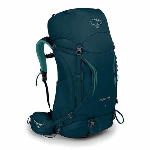 Osprey Kyte 46 Litre Women's Hiking Backpack Icelake Green