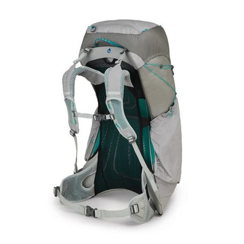 Osprey Lumina 45 Litre Womens Ultralight Hiking Backpack Cyan Silver Harness