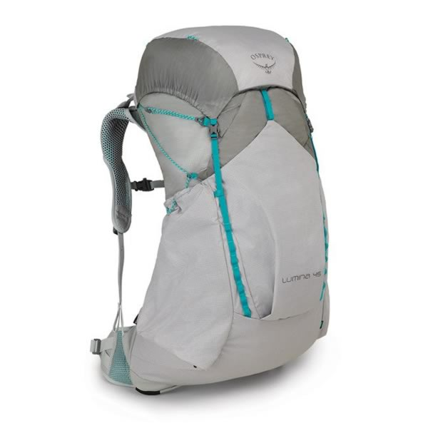 Osprey Lumina 45 Litre Womens Ultralight Hiking Backpack Cyan Silver
