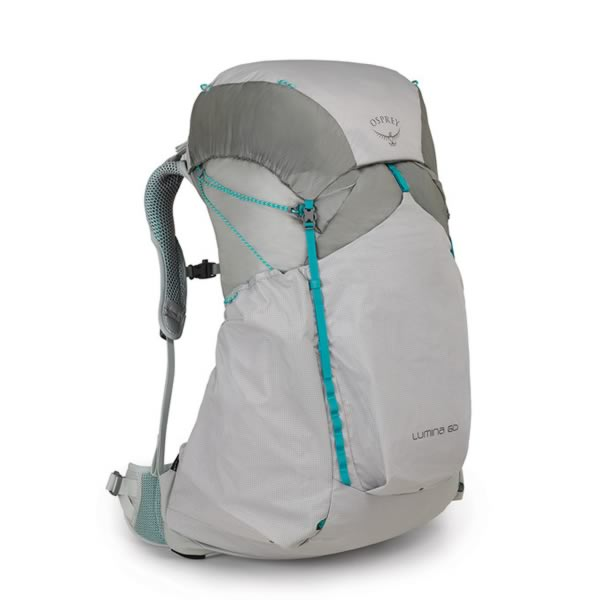 Osprey Lumina 60 Litre Women's Ultralight Backpack Cyan Silver