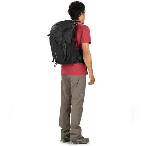 Osprey Manta Men's 34 Litre Hiking Hydration Backpack  in use rear view