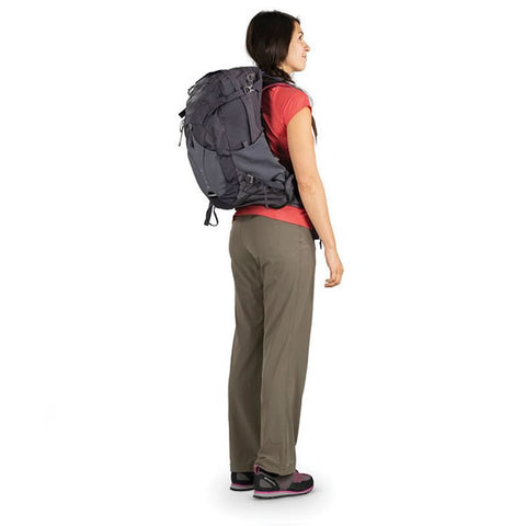 Osprey Mira Women's 22 litre hyrdration hiking backpack in use rear view