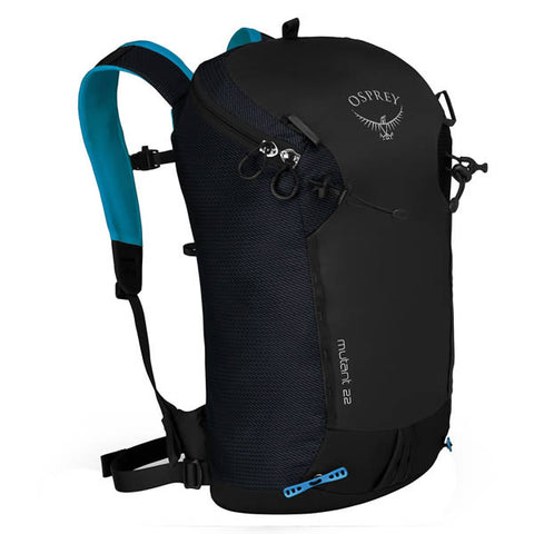 Osprey Mutant 22 Litre Climbing / Mountaineering Daypack Black Ice colour