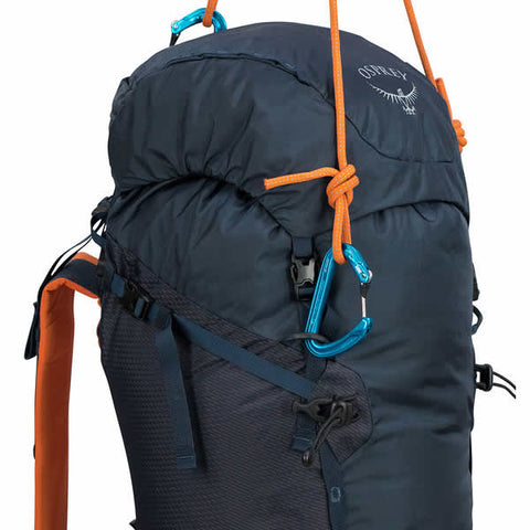 Osprey Mutant 38 litre climbing mountaineering backpack blue fire haul loops