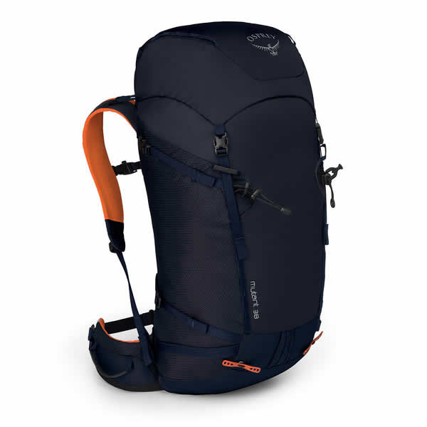 Osprey Mutant 38 litre climbing mountaineering backpack blue fire