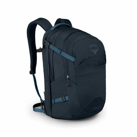 Osprey Nebula 34 Litre Carry On Day Pack Black in use on back