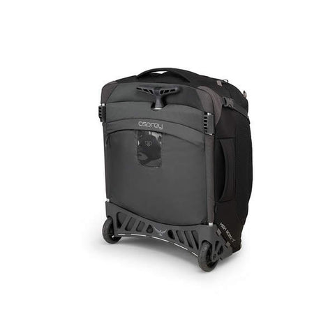 Osprey Ozone 38 Litre 19.5 Inch Global Carry-on Size Wheeled Travel Luggage Black retracted handle