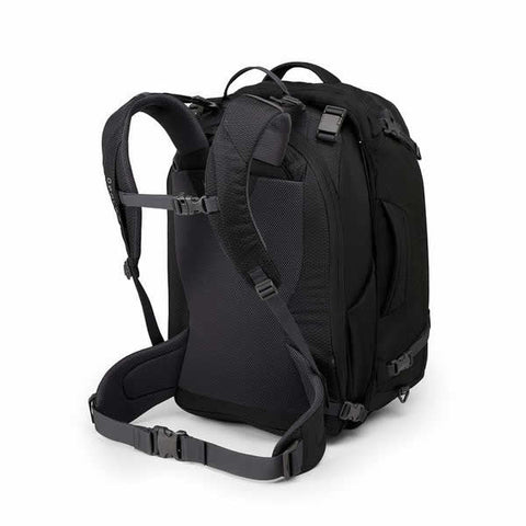 Osprey Ozone Duplex Men's 65 Litre Carry On Travel Backpack Black harness