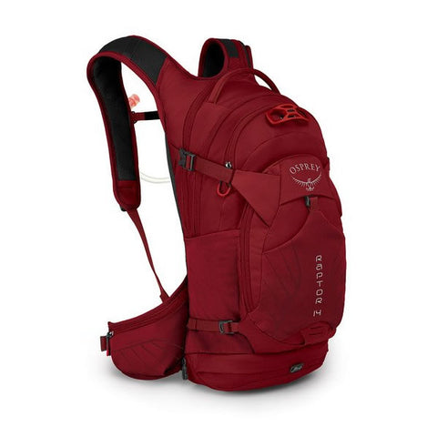 Osprey Raptor 14 Litre MTB Hydration Backpack Wildfire Red
