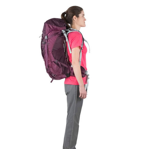 Osprey Sirrus 50 Litre Women's Overnight Hiking Backpack - latest model in use side view