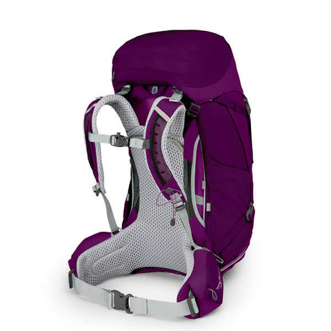 Osprey Sirrus 50 Litre Women's Overnight Hiking Backpack - latest model ruska purple harness