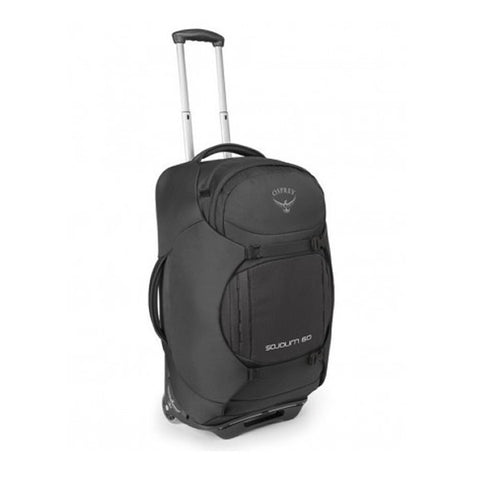 Osprey Sojourn 60 Litre convertible wheeled luggage flash black