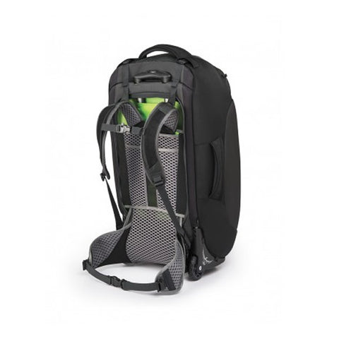 Osprey Sojourn 60 Litre convertible wheeled luggage flash black harness