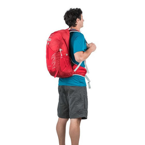 Osprey Talon 22 Litre Lightweight Multi-Sport Day Pack - latest model in use rear view