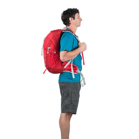 Osprey Talon 22 Litre Lightweight Multi-Sport Day Pack - latest model in use side view